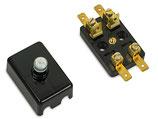 Sicherungsdose 2-polig schwarz 4x Steckanschlüsse passend Simson, S50,S51 KR51 u.a. Neu