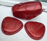 Tankset rot metallic Tank innen zusätzlich versiegelt passend Simson S50, S51  Neu