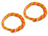 Nabenputzring gelb/rosa im Satz passend Simson S50, S51, KR51, SR4- u.a. sowie MZ TS ES ETZ u.a. Neu