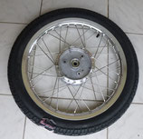 Komplettrad hinten 1.6 x 16 Alu-poliert + Chromspeichen VRM 096  43J Reifen passend Simson S50, S51, KR51, SR4- u.a. Neu