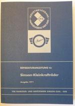 Reparaturbuch Reparaturanleitung für Simson Schwalbe Spatz Star Sperber Ausgabe 1971 DDR