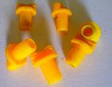 Verschlussstopfen Säure-Batterie Stöpsel in Gelb/orange Durchmesser ist 7mm  / Gebraucht