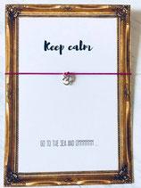 Wunscharmband Keep calm