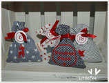 Adventskalender  ♥ rot-grau Mix