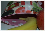 Lunchbag Äpfel rot/rosa