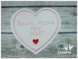 Applikation Herz Beste Mama der Welt XXL