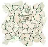 Mosaico Palladiana Bianco Perlino
