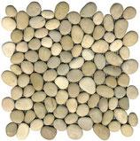 Mosaico Sassi di Fiume Beige