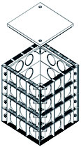 E-Trick Quattro Kabelschacht L. W. 450 x 450 mm