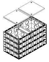 E-Trick Quattro Kabelschacht L. W. 900 x 450 mm