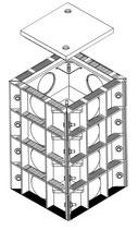E-Trick Quattro Kabelschacht L. W. 290 x 270 mm