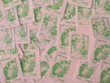 """Timbres pour lettres de 50 grammes """"lettre verte"""" valeur permanente (X10)"""