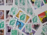 """Timbres pour lettres de 20 grammes """"lettre verte"""" valeur permanente (X10)"""