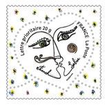 Timbres pour lettres de 20 grammes prioritaire valeur permanente Franck Sorbier (X10)