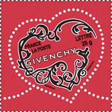 Timbres pour lettres de 20 grammes prioritaire valeur permanente Givenchy (X10)