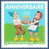 Timbres pour lettres de 20 grammes prioritaire valeur permanente Sylvain et Sylvette (X10)