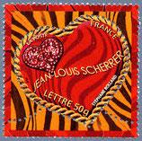 Timbres pour lettres de 50 grammes prioritaire valeur permanente Jean-louis Scherrer (X10)