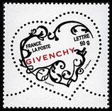 Timbres pour lettres de 50 grammes prioritaire valeur permanente Givenchy (X10)