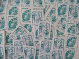 """Timbres pour lettres de 100 grammes """"lettre verte"""" valeur permanente (X10)"""