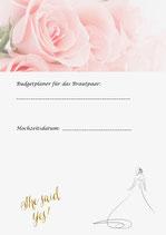 7-Seitiger Budgetplaner Download und 5-Seiten Weddingplaner zum einmaligen Angebot von