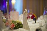 Brautpaar aus weissem Porzelan