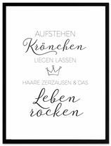 "stil.eben Poster ""Krönchen"" 30x40"