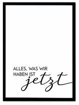 "stil.eben Poster ""Jetzt"" 50x70"