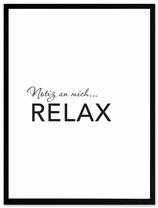 """stil.eben Poster """"Relax"""" 30x40"""