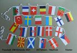 Fahnenkette 24 Nationen