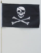 Skull and Bones Stockfahne