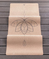 Yogawow Lotus Yogamatte Naturkautschuk mit Kork