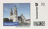 """Briefmarke """"Rathaus"""" und """"St. Lorenz-Basilika"""" 0,70"""