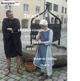 """Ticket Stadtführung mit Theater(szenen) """"Ritter-Fürstabt-Hexe"""""""