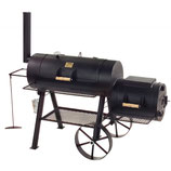 "Joe´s BBQ Smoker 16""Longhorn"" mit Kochplatte, Front- u. Bodenablage"