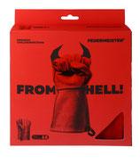 FEUERMEISTER® Premium BBQ Grillhandschuh aus Spaltleder in Rot