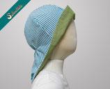 SONNENHUT NECK - turquoise stripes light green