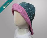 SONNENHUT NECK - pink hook mat green dots