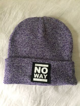 No Way Beanie - Classic Logo - purple