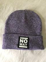 No Way - Beanie - Logo - heather purple