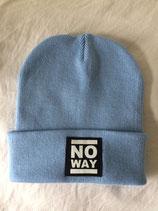 No Way Beanie - Classic Logo - sky blue