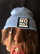 No Way - Beanie - Logo - sky blu