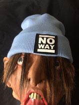 No Way - Beanie - Logo - sky blu