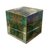 Lithoviso Kristallwürfel - Briefbeschwerer und Kunstobjekt für Schreibtisch, Regal oder Fensterbrett