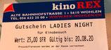 Kino-Gutschein Ladies Night (gültig bis 28. Februar 19)