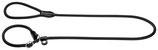 H-Retrieverleine Freestyle schwarz 8mm x 120cm
