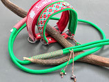 Happyflati Weihnachtsleine  aus Seil mit Karabinerhaken in silber