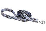 BioThane Leine 25mm mit Handschlauf Camo blau genietet