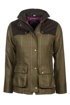 Bramham Short Tweed Jacket Light Green/Pink