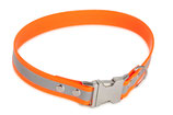BioThane Halsband Clip 25 mm reflekt orange