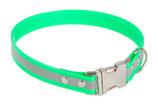 BioThane Halsband Clip 19 mm reflekt hellgrün